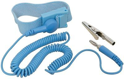 New Blue Anti Static Antistatic Esd Adjustable Wrist Strap Band Us Seller