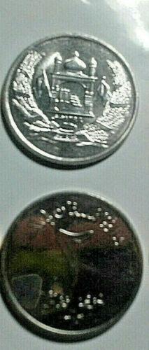 AFGHANISTAN COIN PAIR, 2 & 5 AFGHANIS