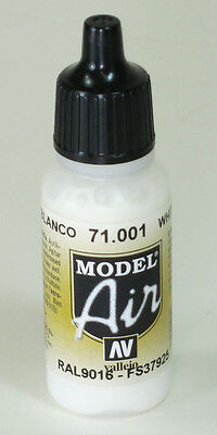Vallejo Model AIR   WHITE 71.001 Acrylic Hobby Model Paint 17ml Airbrush Ready