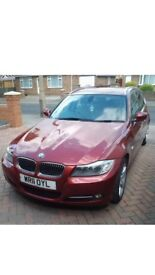 2011 BMW 318d Touring Executive with sat nav, cream leather interior, exterior red/burgundy