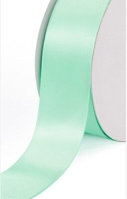 Mint satin 5 yards! Creative Ideas Solid Satin Ribbon, 1.5 inch wide Mint color!