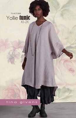 Yollie Tunic Sewing Pattern TG-A7089 by Tina Givens Lagenlook Style- Layering!