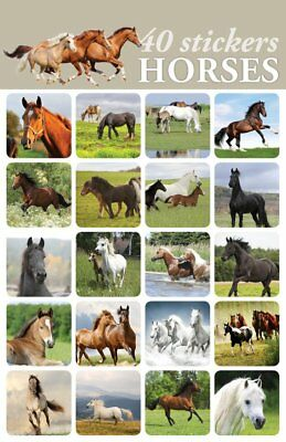 40- Horse Stickers For Scrapbooking or Envelopes Kids Adults Majestic Stunning - Stickers For Scrapbooking