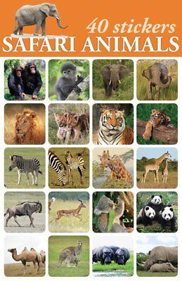40-Safari Zoo Animal Stickers For Scrapbooking or Envelopes Majestic Stunning - Zoo Animal Crafts