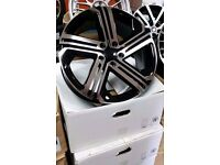 "NEW 18"" VW GOLF R400 ALLOY WHEELS X4 BOXED 5X112 MK5 MK6 MK7 SCIROCCO CADDY AUDI A3 A4"
