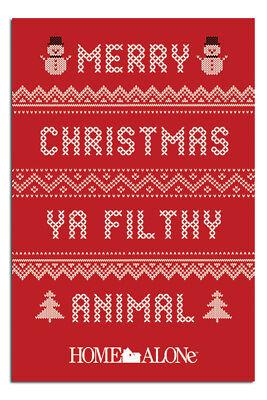 Home Alone Plakat Merry Christmas Ya Filthy Animal 24 X 36 Neu ()