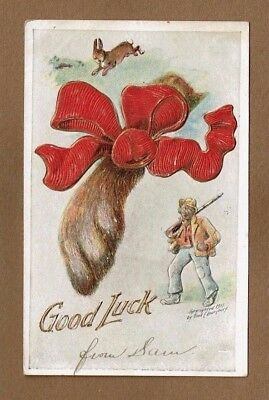 Good Luck, shows rabbits foot, hardly good luck for the rabbit, black man w/ gun for sale  Columbus
