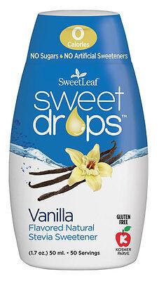 VANILLA Sweet Drops Liquid Stevia SweetLeaf 1.7 oz 1 pack Zero Calories