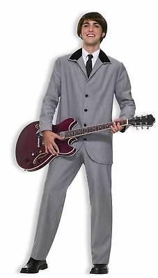 Mens Beatles Costume British Invasion Suit 60s Rocker English Rock Star 61802