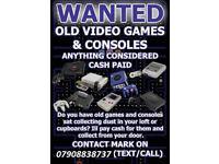 WANTED RETRO COMPUTER GAMES & CONSOLES , NINTENDO , SNES , SEGA , N64 , NES , GAMECUBE , PSX