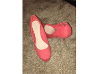 Dorothy Perkins heels shoes coral pink size 5