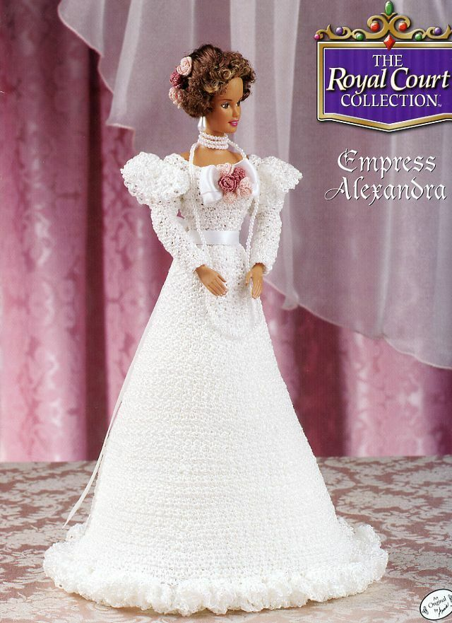 Annie/'s ROYAL COURT Bed Doll 13 Crochet Patterns Complete Collection to fit Barbie