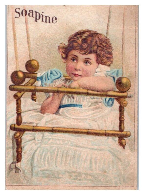 Little Girl Soapine Victorian Trade Card
