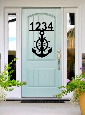 Anchor Address Sign Nautical Home Decor House Numbers Boat Lake Beach Ocean ()