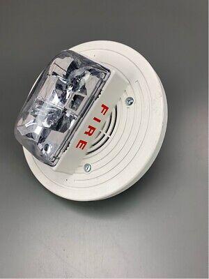 New Simplex Pid 4906-9257 White Ceiling Hornstrobe Pn 07431257 Fire Alarm