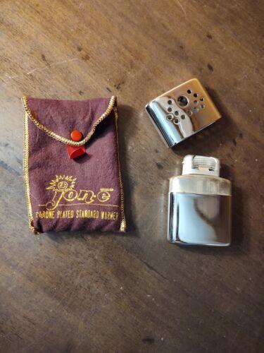 Standard JON E Hand Warmer Chrome Plated Aladdin Labs w/ Orig Pouch