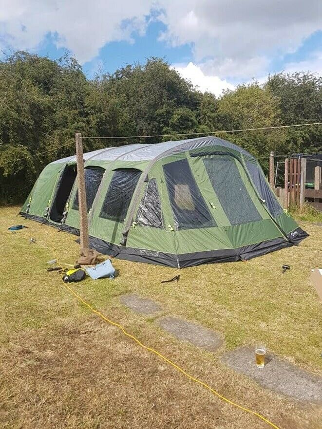 Outwell Wolf Lake 9e Tent With Footprint Carpet Dual