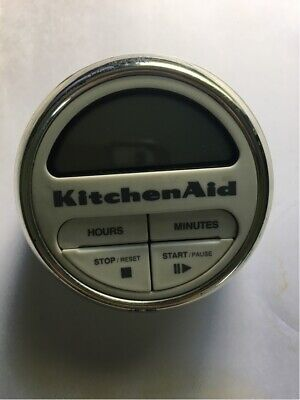 White KitchenAid Digital Kitchen Timer Cooking Clock
