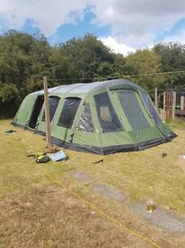 Outwell Wolf Lake 9e tent with footprint carpet dual roof protector universal awning & Eurohike bowfell 600 tent and side porch | in Kirkby-in-Ashfield ...