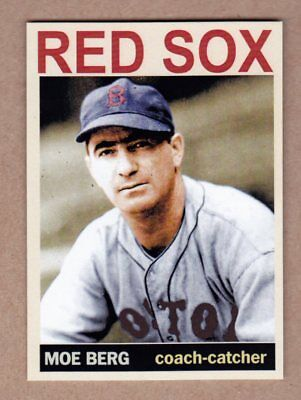 Moe Berg '46 Boston Red Sox Monarch Corona Private Stock - Soxs Stock