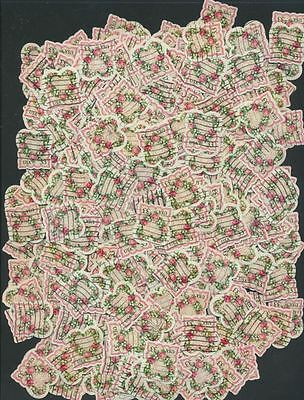 Die Cut Heart Shape - Victorian Love Stamp Heart Shape Die Cut #3274 Crafts Cards Hobbies Lot of 100