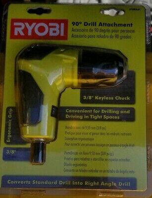 Ryobi 18 Volt Right Angle 90 Degree Drill Attachment 38 Chuck A10raa1 New