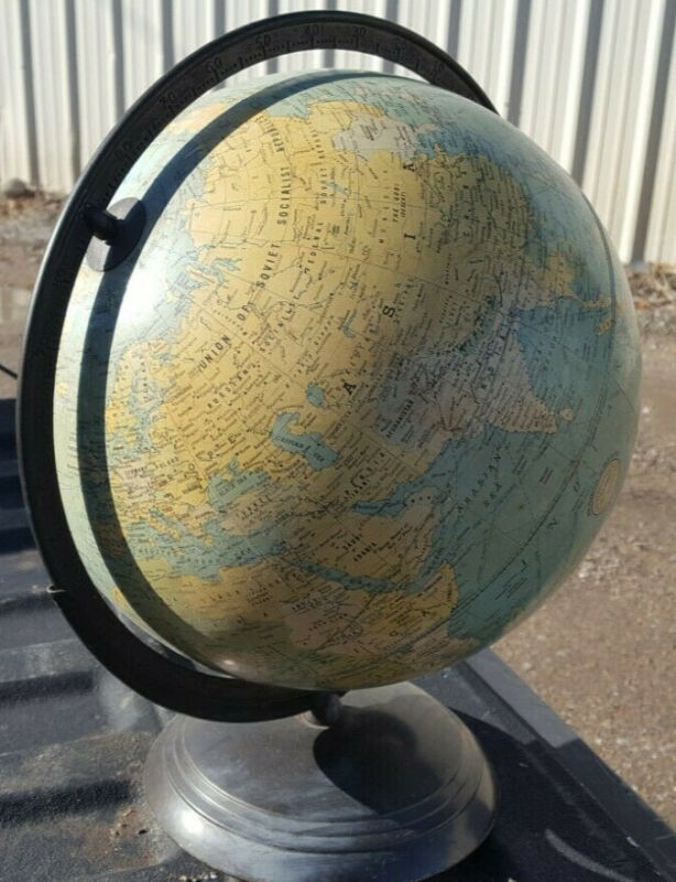"New Peerless 12"" Terrestrial Globe Weber Costello"