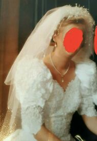 Wedding tiara and veil