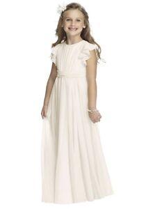 EUC! Dessy Girl Flower Girl First Communion dress Size 6Long Ivory Style# FL4038