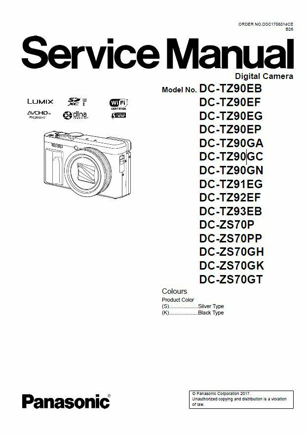 Panasonic Lumix DC-ZS70 TZ90 Service Manual + Schematic