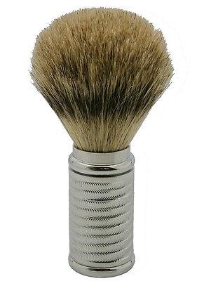 Shaving Brush Chrome Plated Brass Hard Best Badger Hair Fine Dr.Dittmar
