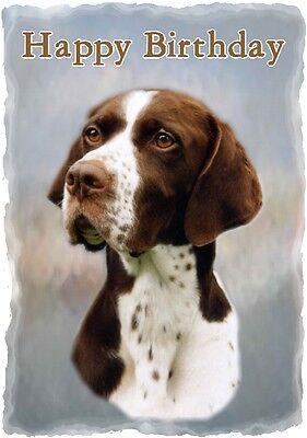 Pointer Dog Design A6 Textured Birthday Card BDPOINTER-6 paws2print