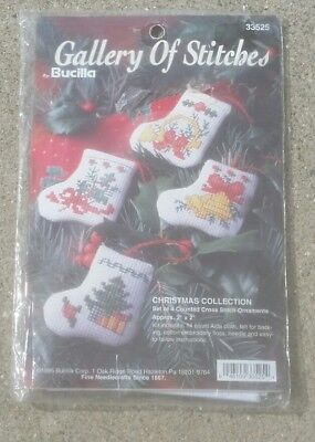 #33525 BUCILLA CHRISTMAS TREE DECORATION ORNAMENT COLLECTION CROSS STITCH KIT
