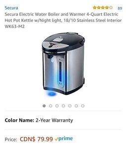 Secura Electric Water Boiler and Warmer