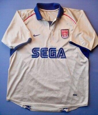 Vintage Arsenal Nike Gold Away Jersey  2001 2002  Medium Men
