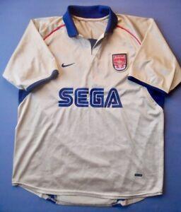 Vintage Arsenal Nike Gold Away Jersey! 2001-2002 (Medium Men)