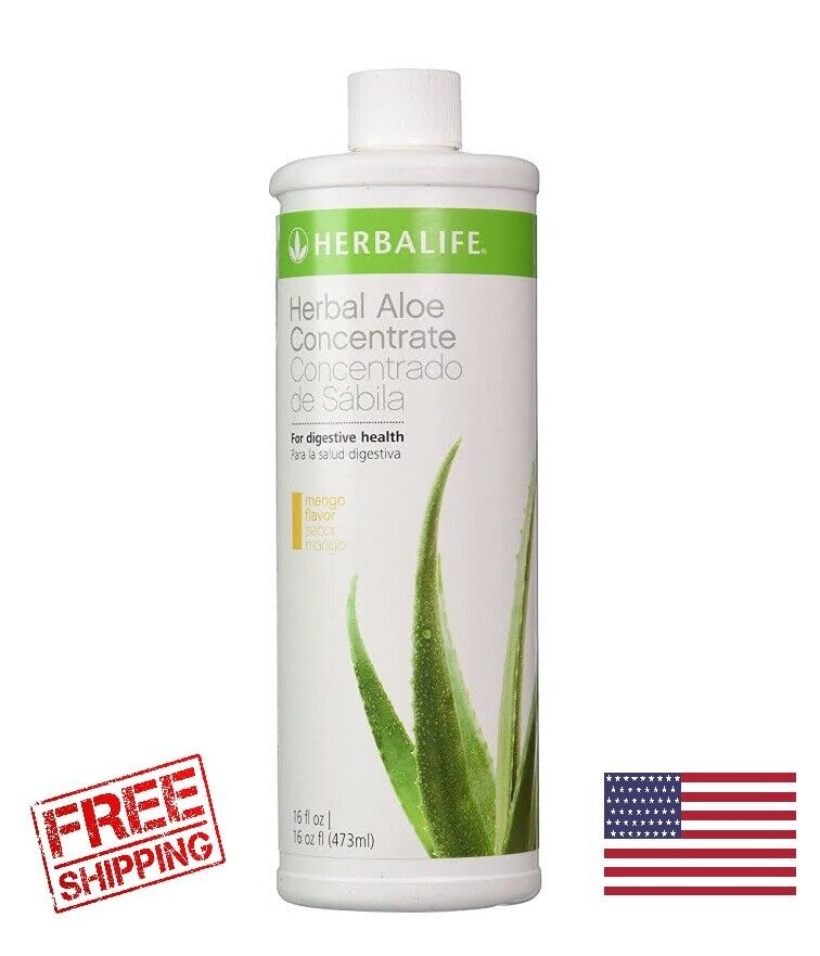Herbalife Herbal Aloe Drink Concentrate 16 Oz - New Mango Flavor  - $26.00