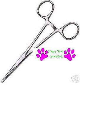 Pet Grooming DOG CAT HEMOSTAT Forcep Tweezer Hair Puller EAR Stainless Steel*LRG