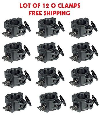 """O-Clamp 12 Pack DJ Lighting Clamp to Mount Light to 1.5"""" - 2"""" Trussing and Pipe"""
