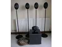 KEF 5.1 Cinema System. KHT2005 Egg Speakers + Stands + Subwoofer + Cables