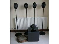 KEF 5.1 System. KHT2005 Egg Speakers + Subwoofer + Stands + Cables