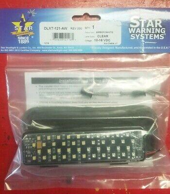 1.star Warning System Dlxt-121-aw .split Amberwhite.strobe Lights 1..available.