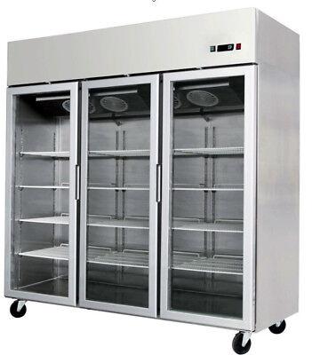 New 3 Door Stainless Steel Commercial Glass Front Freezer Merchandiser Mcf8603