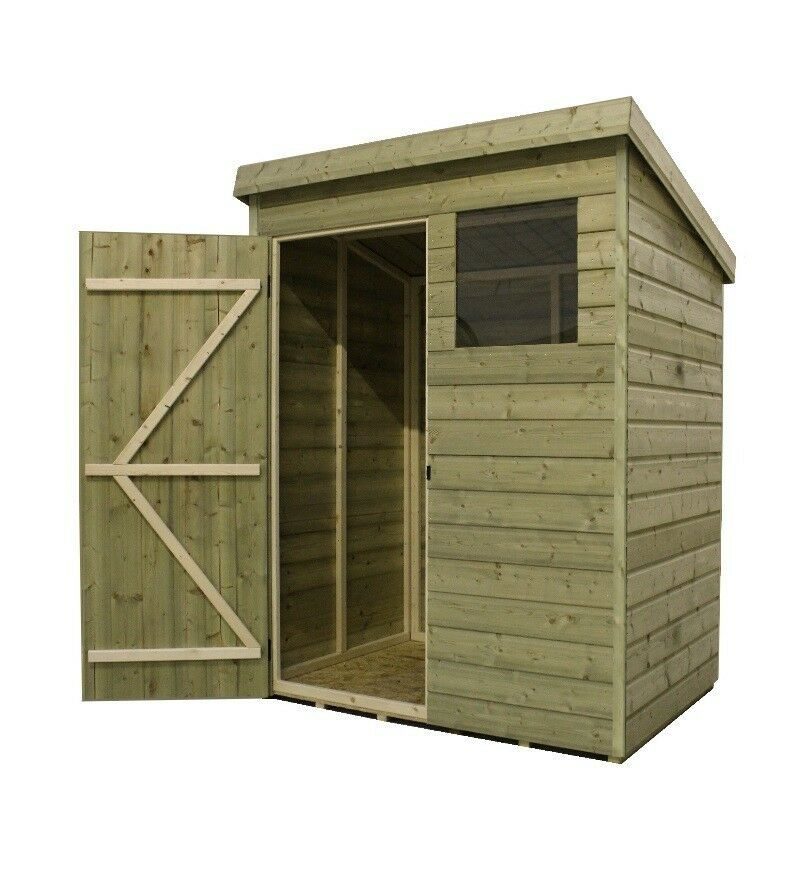 Garden Sheds 6x7: GARDEN SHED PENT T&G PRESSURE TREATED TANALISED 2 WINDOWS