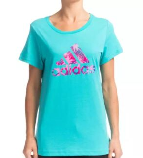 New ADIDAS Women's Climalite Logo Tee | Purple or Teal | Size XS Endeavour Hills Casey Area Preview