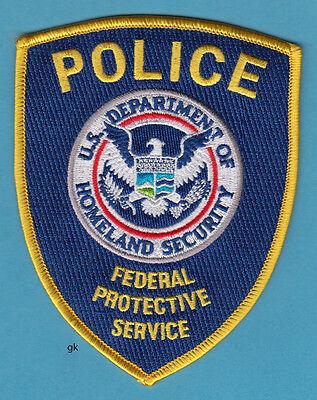 HOMELAND SECURITY FEDERAL PROTECTIVE SERVICE  POLICE SHOULDER PATCH (blue)