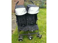 Maclaren twin techno black double buggy