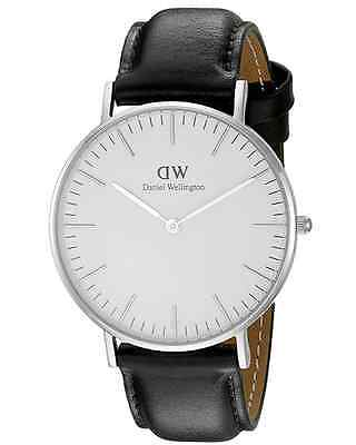 New Daniel Wellington Classic Sheffield 0608DW Black Leather 36mm Ladies Watch