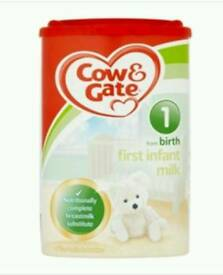 Cow&Gate formula milk from birth