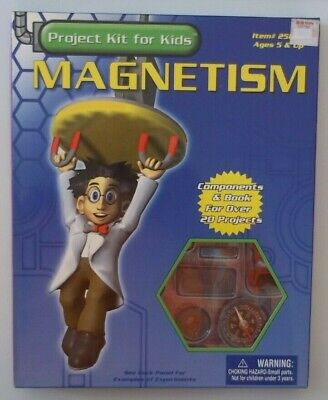 Magnetism Project Kit (MAGNETISM Project Kit For Kids Children 5 & Up, COMPONENTS MAKE 20+ Projects )